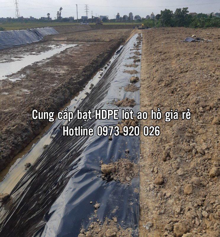 Bạt nhựa HDPE lót ao hồ nuôi tôm cá giá rẻ