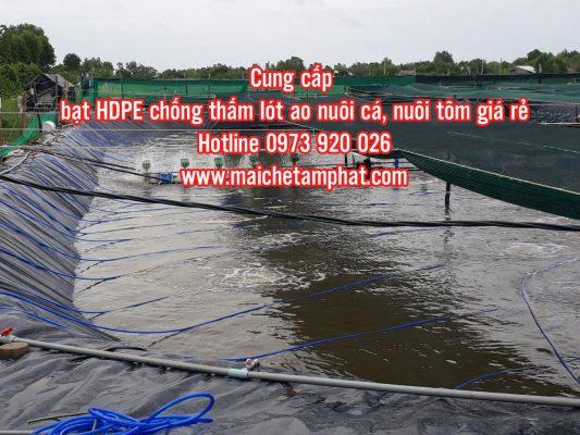 Cung Cấp Bạt HDPE Lót Ao Hồ Nuôi Tôm, Bạt Lót hồ cá giá rẻ