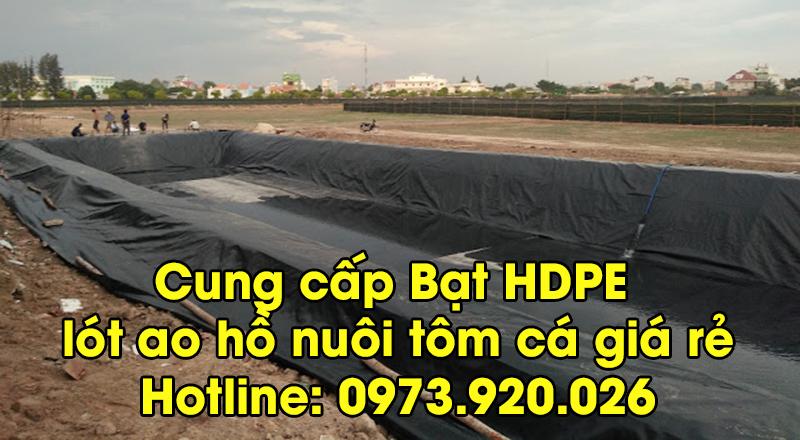 bạt HDPE lót ao hồ nuôi tôm cá