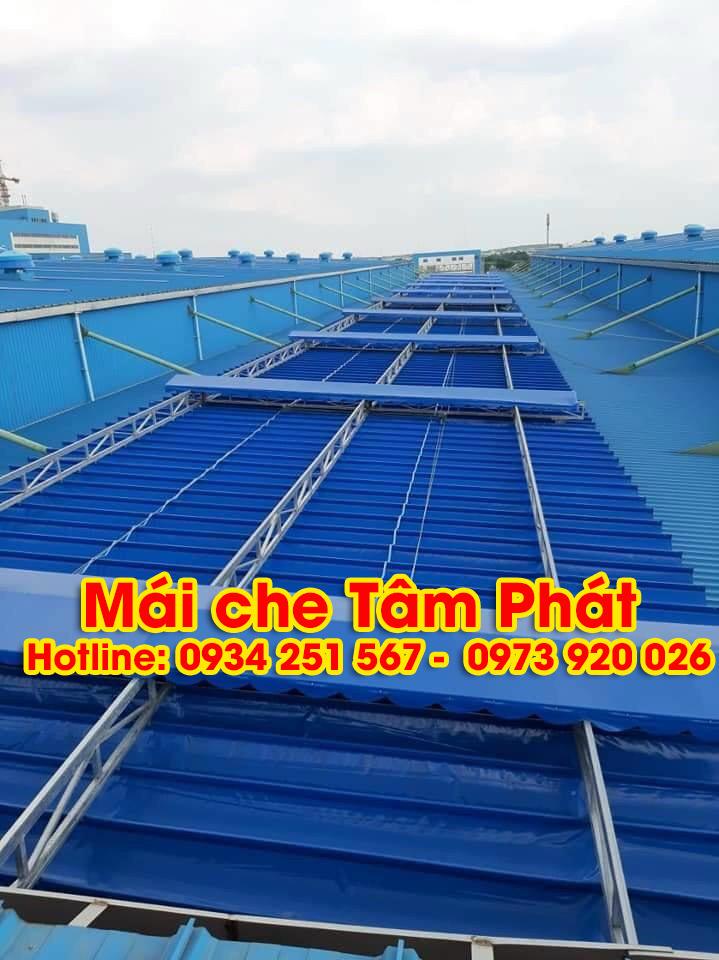 Thi công mái bạt xếp nhà xưởng tại Tiền Giang