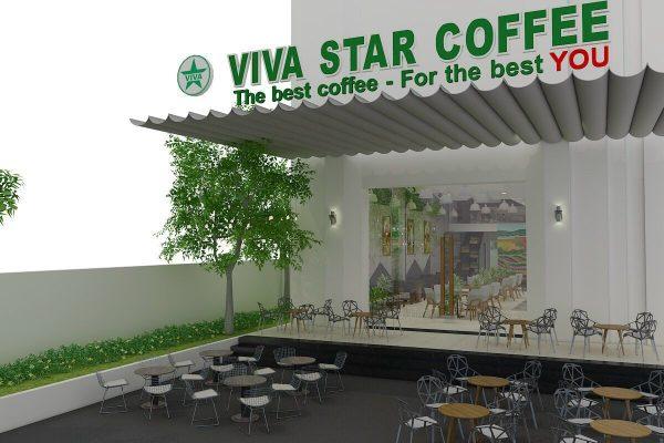 thiết kế mái che quán cafe đẹp