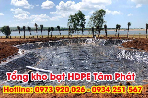 màng chống thấm HDPE lót hồ cảnh quan